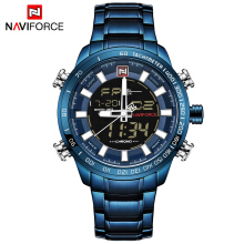 NAVIFORCE Mens Quartz Analog Watch Fashion Sport Digital Waterproof Male Watches