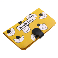 [LESHP]Creative Lovely Sweet Style Passport Wallet Card Holders PU Leather Yellow