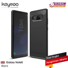 Keymao Samsung Galaxy Note 8 case Soft TPU Silicon Full Protect Cover Case Black