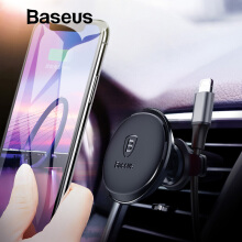 Baseus Magnetic Car Phone Holder For iPhone X Xs Samsung S9 Handphone Holder Stand Air Vent Mount Car Holder & Cable Organizer