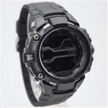 Digitec Collection DD-5008M-8748 D45H198DGMHTAB Jam Tangan Pria Dualtime Rubber Strap - Hitam Abu Black