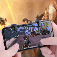ivolks Universal Gamepad For Mobile Phone Game Controller Shooter Trigger Fire Button For Phone For Eat Chicken Black