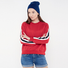 Rave Habbit- MERCIA Twilltape Red Sweatshirt