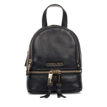 Michael Kors Women's RHEA Cow Leather Backpack 30T6GEZB1L001 Black