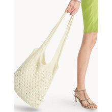 Knitted Shoulder Bag - White [One Size]