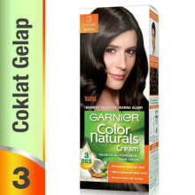 Garnier Color Naturals Dark Brown - Pewarna Rambut Coklat Gelap [No 3]