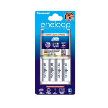 Panasonic Eneloop Smart & Quick Charger 1,5HR + Battery AA 4PCS White