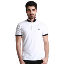 Authentic Fred Perry Men White Stripped UnderCollar Polo Shirt XXL