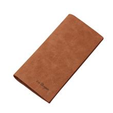 DEXBXULI Personality Casual Scrub Long Soft Leather Men's Wallet