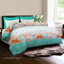 KING RABBIT Bedcover Single Motif Little Sheep -Toska/ 140 x 230cm Turquoise