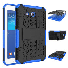 RockWolf Samsung Tab 3 Lite/tab 4 lite/T110 case TPU anti-fall colorful back clip bracket flat shell
