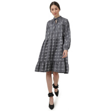 IKAT Indonesia Grey Ista Dress