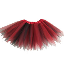 Farfi Kids Girls Color Block Gauze Princess Ballet Dancewear Party Tutu Skirt