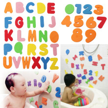 36PCS Alphanumeric Letters/33pcs Russian alphabet Bath Puzzle Soft EVA Numbers Kids Baby Toy Early Educational Toy Tool Bath Toy White