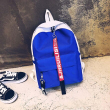 Keness Korean version of the ribbon Harajuku personality student canvas backpack male tide