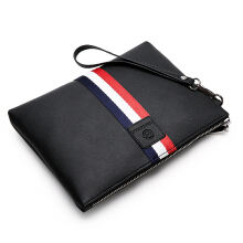 Wei's Men's Choice Fashion Wallet Multi-function Zipper Wallet Bag Men's Clutch fdk007 Black