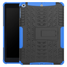 RockWolf iPad 9.7 inch 2017 case TPU anti-fall tire pattern back clip bracket flat shell