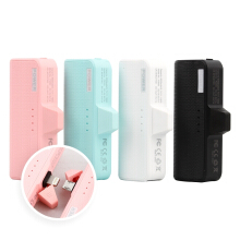 Paroparoshop - Pengisi Daya Portable Pastel Powerbank for Apple iPhone or Android Micro USB Port