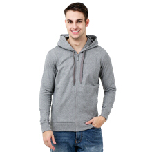 BESUTO Men Zip-Up Hoody (M) - Misty Grey