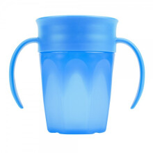 Dr. Brown's Cheers 360 Spoutless Transition Cup with Handle 200 ml - Blue