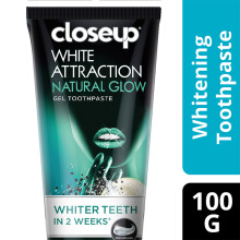 CLOSE UP Pasta Gigi White Attraction Natural Glow Coconut Charcoal 100g