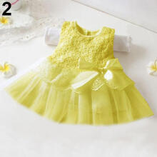 Farfi Baby Girls Floral Princess Bowknot Tutu Sundress Party Robe Vest Dress