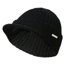 Fashionable Stripe Pattern Knitted Cap Baseball Cap Snapback Hat Leisure Cap