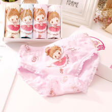 Farfi Cute Cartoon Ballet Girl Printed Ruffles Kids Children Cotton Panties Briefs