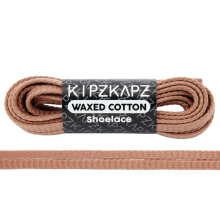 KipzKapz WS55 Waxed Cotton Flat Shoelace - Dusted Clay [5mm]