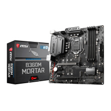 MSI B360M Mortar/ 2x PCIEx1 / 2x PCIEx16 / DVI/ HDMI/ Display Intel Socket 1151 m-ATX Motherboard