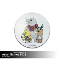 Asian Games 2018 Mousepad - Circle - White-Trio