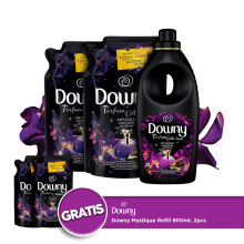 DOWNY Paket Mystique Refill 1.5L 2X & Mystique Bottle 900ml