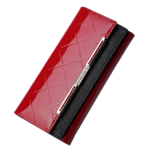 PEKY Patent Leather Women Wallet Female Long Clutch