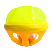 COZIME Baby Bath Ball Rattle Toy Water Float Ball Educational Fun Kids Bath Toy Yellow