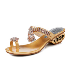 jantens Sandals 2018 New Summer Fashion Rhinestone Woman Slides Crystal Beautiful Lady Casual Shoes Female m346