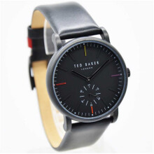 Ted Baker TE50072003.2184LSTKN Features Small Second Jam Tangan Pria Strap Kulit – (Hitam) Black