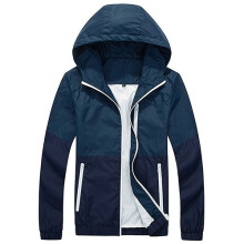 Farfi Men Zip Up Hooded Jacket