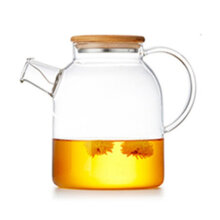 [OUTAD] 1800ML Thickened High Borosilicate Glass Transparent Heat Resistant Tea Pot Transparent
