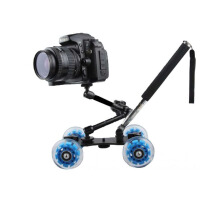 Dolly Slider Kamera DSLR dengan Magic Arm + Monopod Black