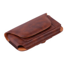 [COZIME] Fashion Men Leather Vintage Travel Cell Mobile Phone Case Cover Waist Bag Others1
