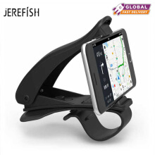 JEREFISH Updated NonSlip 360 Rotation Dashboard Car Mount Holder for iPhone 7 8 8 Plus X Samsung GPS HUD Design Car Phone Holder Black