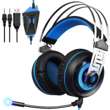Blitzwolf Sades A7 3.5mm Wired Stereo Surround Noise Cancelling Gaming Headset with Mic Light   -  -
