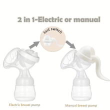 2 in 1 Manual and Electric Breast Pump