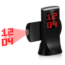 JDWonderfulHouse JDwonderfulhouse HighStar Projection Clock 180 Degree Rotation Snooze Digital Electronic Table Desk Watch Countdown A