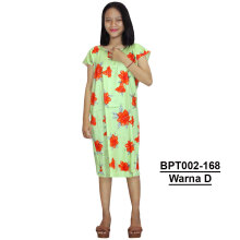 Batik Alhadi (BPT002-168) - Dress Midi - Motif Bunga -  All Size