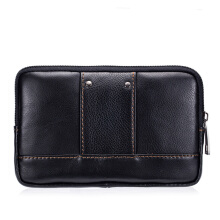 LAOSHIZI Vintage Personality First Layer Leather Wear Belt Men's Waist Bag