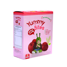 YUMMY BITES Rice Crackers Apple Box - 50gr