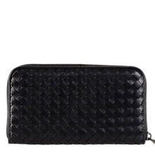 Bottega Veneta Men's Black Leather Wallet 114076V001N1000