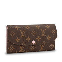 LOUIS VUITTON EMILIE  Women Brown Leather Wallet M61289 Dark Brown