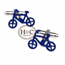HOUSEOFCUFF Cufflinks Manset Kancing Kemeja French Cuff BICYCLE BLUE CUFFLINKS Blue